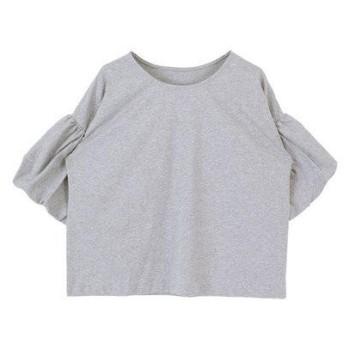 ティティベイト titivate バルーンスリーブカットソーTシャツ (杢グレー)