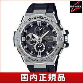 G-SHOCK Gショック CASIO カシオ タフソーラー GST-B100-1AJF G-STEEL Gスチール アナログ メンズ 腕時計 国内正規品 黒 ブラック 銀 シルバー ウレタン
