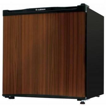 エスキュービズム S-cubism 1ドア冷凍庫 32L 左右ドア付け替え可能 木目ダークウッド WFR-1032WD
