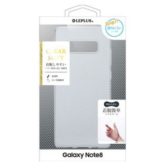 MS Products Galaxy Note8(SC-01K/ SCV37)用 TPUケース(クリア) LEPLUS(ルプラス)「CLEAR SOFT」 LP-GN8TNCL 返品種別A