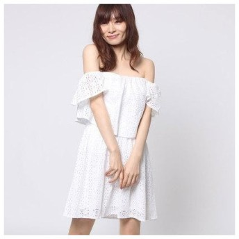 ゲス GUESS SONDRA EYELET DRESS (TRUE WHITE)