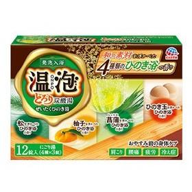 温泡 ONPO とろり炭酸湯ぜいたくひのき浴 3錠×4種[配送区分:A]