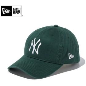 【メーカー取次】 NEW ERA ニューエラ 9TWENTY Cloth Strap ウォッシュドコットン ニューヨーク・ヤンキース ダークグリーン 11434005 キャップ