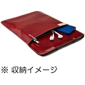 【ネコポス】 トリニティ TR-BSA13E-RD エコレザースリーブ レッド 〔MacBook Air 13インチ用〕