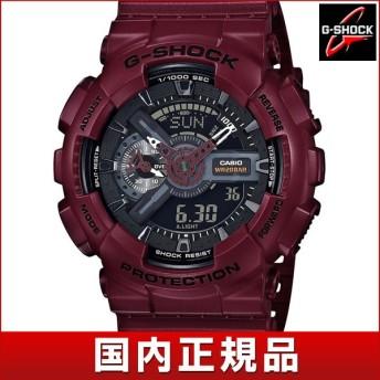 CASIO カシオ G-SHOCK Gショック GA-110EW-4AJF アナログ デジタル メンズ 腕時計 時計 赤 ボルドー 国内正規品