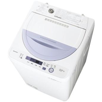 シャープ全自動洗濯機 5kg バイオレット系 ESGE5A-V
