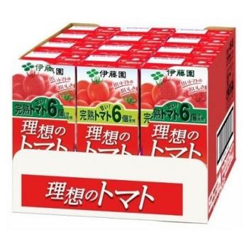 伊藤園 理想のトマト (200ml紙パック×12本) トマトジュース