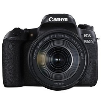 キヤノン 一眼レフカメラ 1本レンズキット(高倍率ズーム) EOS(イオス) EOS9000D-18135ISUSMLK ブラック