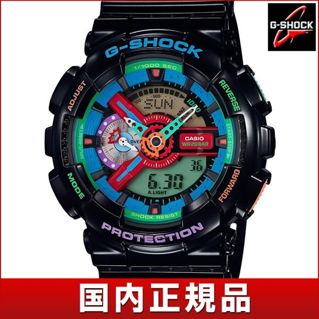 CASIO カシオ G-SHOCK Gショック Crazy Colors クレイジー・カラーズ GA-110MC-1AJF クオーツ 黒 ブラック 国内正規品