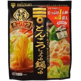 ミツカン シメまで美味しい ミニパック とんこつしょうゆ鍋つゆ 128g 代引不可