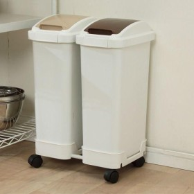 キャスター付き ゴミ箱 分別 おしゃれ キッチン ダストボックス ふた 分類ゴミ箱 CBP-152(15L×2)30L(アイリスオーヤマ)