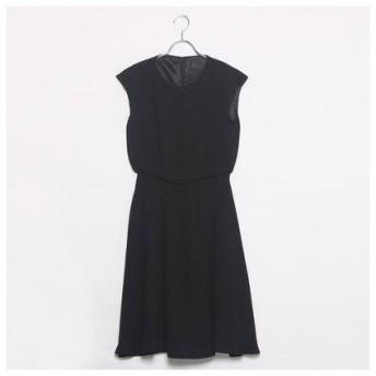 コムサイズム COMME CA ISM ウエスト切替のベーシックドレス (ブラック)