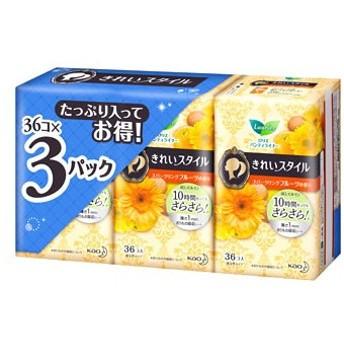 花王 ロリエ きれいスタイル プレシャスブーケの香り (36コ入×3パック) パンティライナー