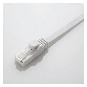 エレコム EU RoHS指令準拠 爪折れ防止フラットLANケーブル(Cat6) ホワイト 2.0m LD−GFT/WH20 1本