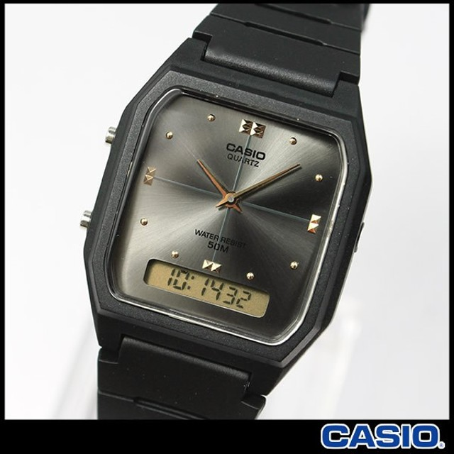 ポイント最大21倍 3ヶ月保証 専用BOXなし CASIO カシオ ベーシック AW-48HE-8A 海外モデル メンズ レディース 腕時計 時計 グレー ブラック 黒