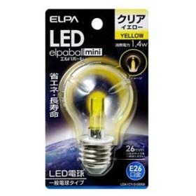 ELPA LED装飾電球 PS形(クリア・黄色) elpaballmini LDA1CY-G-G559 返品種別A