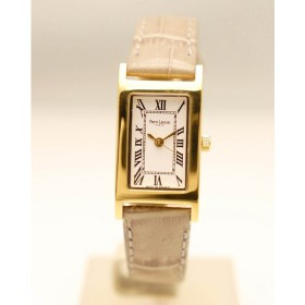 Pierre Lannier  ピエールラニエ   レクタングル ゴールド P330 A510 牛革 クロコ型押し グレー 腕時計 ギフト プレゼント 送料無料