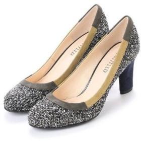 アンタイトル シューズ UNTITLED shoes パンプス UT6965 (カーキファブリックコンビ)