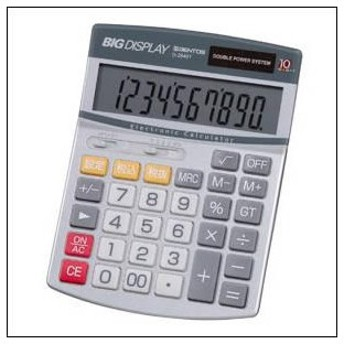 ADESSO アデッソ D-2840T 電卓 ビッグディスプレイ電卓セミデスク10桁
