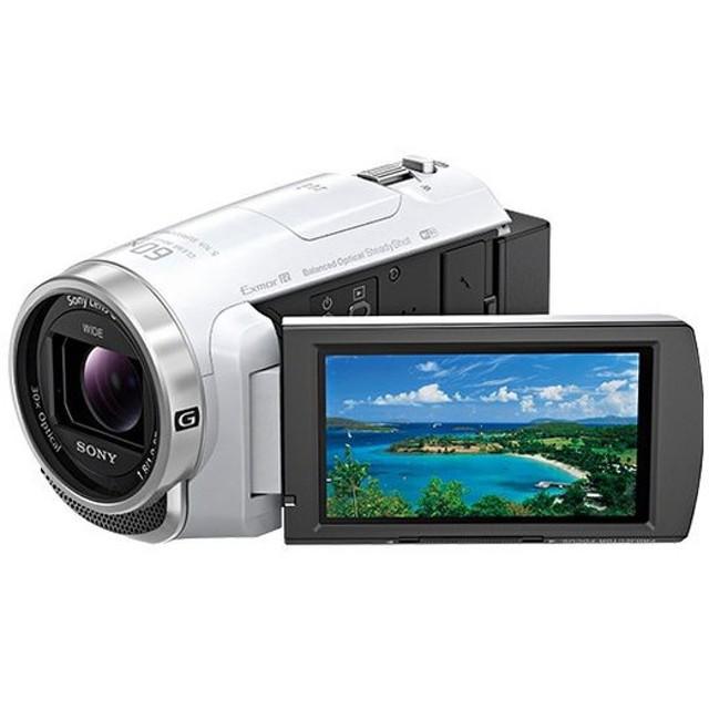 ソニー デジタルHDビデオカメラレコーダー Handycam PJ680 ホワイト HDR-PJ680/W 代引不可