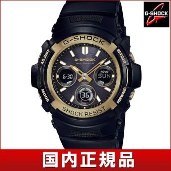 CASIO カシオ G-SHOCK Gショック タフソーラー AWG-M100SBG-1AJF アナログ デジタル メンズ 腕時計 ウォッチ 黒 ブラック 金 ゴールド 電波時計 国内正規品
