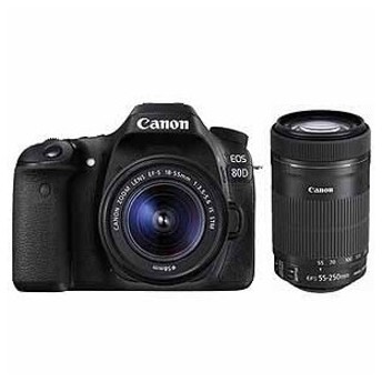 (アウトレット) キヤノン 一眼レフカメラ 2本レンズキット(標準ズーム+望遠ズーム) EOS(イオス) EOS80D-WKIT