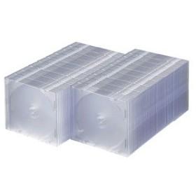 サンワサプライ DVD・CDケース(スリムタイプ・100枚セット・クリア) FCD-PU100C 返品種別A