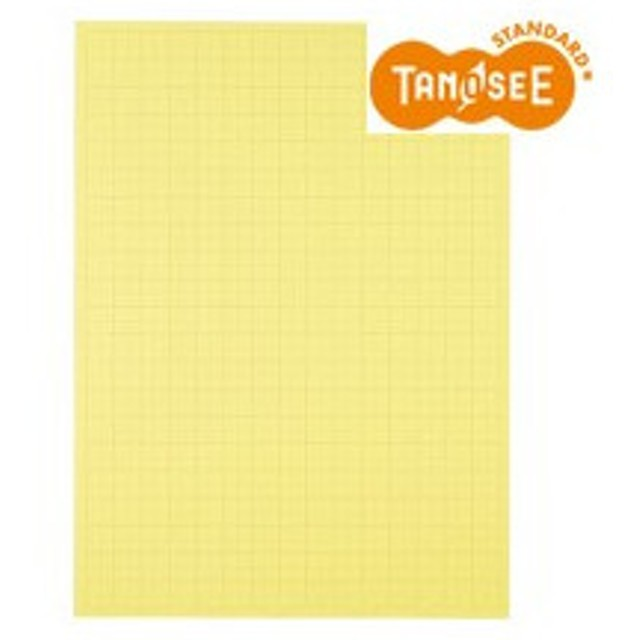 TANOSEE 模造紙(プルタイプ) 本体 788×1085mm 50mm方眼 クリーム 1ケース(20枚)