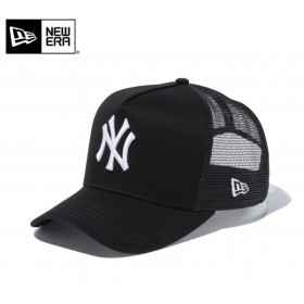 【メーカー取次】 NEW ERA ニューエラ 9FORTY D-Frame Trucker ニューヨーク・ヤンキース ブラック×ホワイト 11120226 メッシュキャップ メンズ ブランド