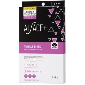 ALFACE+(オルフェス)/トゥインクルブラック アクアモイスチャーシートマスク フェイス用シートパック・マスク
