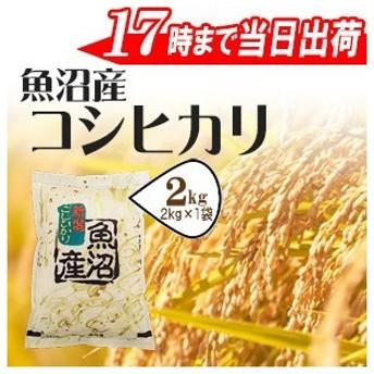 お米 2kg 特A魚沼産コシヒカリ2kg×1袋 30年産