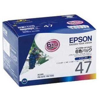 エプソン 純正プリンタインク(6色セット) EPSON IC6CL47 返品種別A