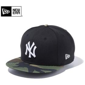 【メーカー取次】 NEW ERA ニューエラ 9FIFTY ニューヨーク・ヤンキース ブラックXウッドランドカモ ホワイトロゴ 11433953 キャップ メンズ メジャーリーグ