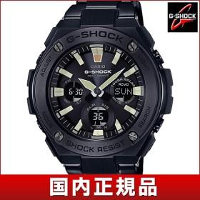 CASIO カシオ G-SHOCK ジーショック 電波ソーラー タフソーラー GST-W130BD-1AJF 国内正規品 G-STEEL Gスチール メンズ アナログ 腕時計 ウォッチ 黒 ブラック