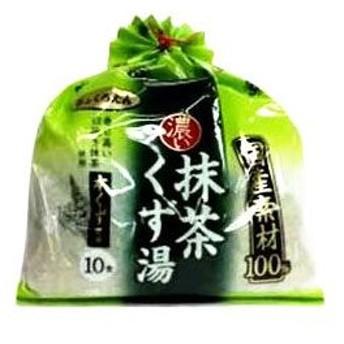 大阪ぎょくろえん 国産素材 100% 抹茶くず湯 (20g×10袋入) 葛湯