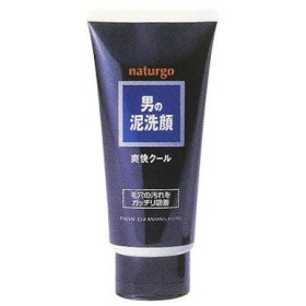 ナチュルゴ メンズクレイ洗顔フォーム黒