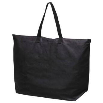 サンナップ 不織布ファスナーバッグ 大 5枚 ブラック 1 パック FB-FLBK 文房具 オフィス 用品