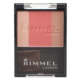 RIMMEL リンメル スリーインワン モデリングフェイスブラッシュ 006 ローズピンク (5g) ハイライト チーク シューディング