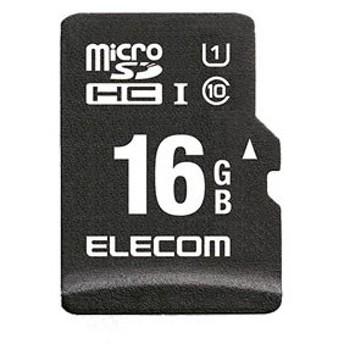エレコム microSDHCメモリーカード 16GB Class10 UHS-1 MF-CAMR016GU11A 返品種別A