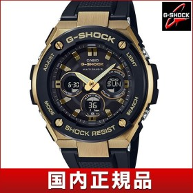 CASIO カシオ G-SHOCK Gショック タフソーラー 多機能 GST-W300G-1A9JF 国内正規品 アナログ デジタル メンズ 腕時計 黒 ブラック 金 ゴールド ウレタン