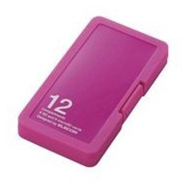 エレコム メモリカードケース SD6枚+microSD6枚収納(ピンク) ELECOM CMC-SDCPP12シリーズ CMC-SDCPP12PN 返品種別A