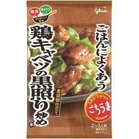 グリコ ごはんによくあう。ごちうま 鶏キャベツの黒照り炒めの素 62g 代引不可