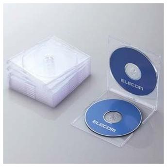エレコム Blu-ray/ DVD/ CDケース 10セット(スリム/ PS/ 2枚収納・クリア) CCD-JSCSW10CR 返品種別A