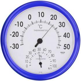クレセル スタンダード 温度計・湿度計 壁掛け用 CR-320B ブルー 代引不可