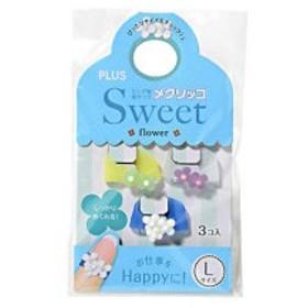 プラス メクリッコ Sweet フラワー1 L ライム・パープル・ホワイト KM−303SB−3 1袋(3個:各色1個)