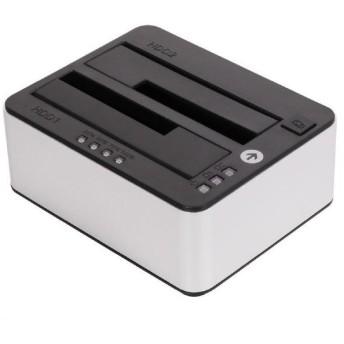 オウルテック 2.5/3.5インチHDD/SSD用PC不要のクローン機能付きスタンド ブラック OWL-CLONE02-BK [OWLCLONE02BK]