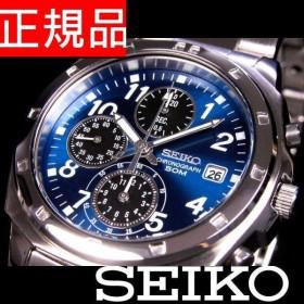 SEIKO SND193PC メンズ腕時計 海外モデル クロノグラフ ブルー