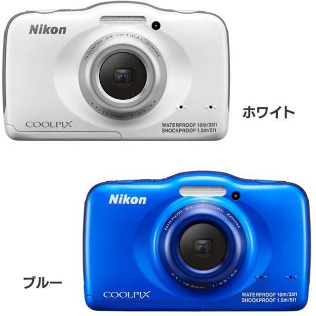 デジタルカメラ COOLPIX S32 WH・BL ニコン