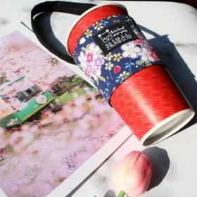 [飲むバッグバッグ - 限定版と風の青い桜吹雪]無料のビニール袋を提供していませんラブ海洋動物‧バッグ‧環境カップセット‧ドリン