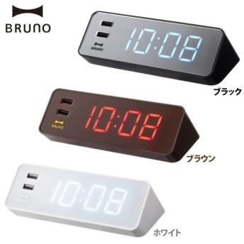 LED Clock with USB ホワイト・ブラウン・ブラック BCR001-WH 2760018・BCR001-BR 2760019・BCR001-BK 2760020【D】【ID】
